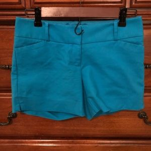 The Limited Beautiful Blue Tailored Shorts Size 0